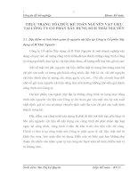 THỰC TRẠNG TỔ CHỨC KẾ TOÁN NGUYÊN VẬT LIỆU TẠI CÔNG TY CỔ PHẦN XÂY DỰNG SỐ II THÁI NGUYÊN