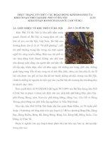 THỰC TRẠNG TỔ CHỨC CÁC HOẠT ĐỘNG KINH DOANH CỦA KHÁCH SẠN NHỎ TẠI KHU PHỐ CỔ HÀ NỘI