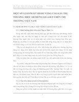 MỘT SỐ GIẢI PHÁP NHẰM NÂNG CAO GIÁ TRỊ THƯƠNG HIỆU SIEMENS GIGASET TRÊN THỊ TRƯỜNG VIỆT NAM