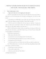 NHỮNG VẤN ĐỀ CƠ BẢN VỀ QUẢN LÝ CHI NGÂN SÁCH NHÀ NƯỚC CHO GIÁO DỤC PHỔ THÔNG