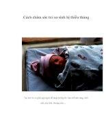 Cách chăm sóc trẻ sơ sinh bị thiếu tháng