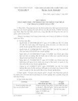 Quy trình tổng hợp, phân tích báo cáo tài chính các doanh nghiệp nhà nước của UBND Tỉnh Bình Thuận