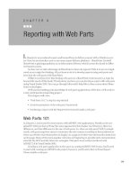 Reporting with Web Parts