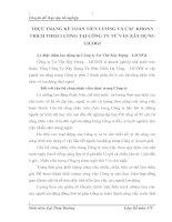 THỰC TRẠNG KẾ TOÁN TIỀN LƯƠNG VÀ CÁC KHOẢN TRÍCH THEO LƯƠNG TẠI CÔNG TY TƯ VẤN XÂY DỰNG LICOGI