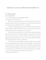 TỔNG QUAN TÀI LIỆU VÀ PHƯƠNG PHÁP NGHIÊN CỨU