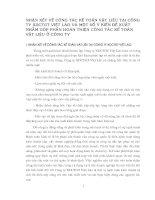 Nhận xét về công tác kế toán vật liêu Tại Công ty XDCTGT Việt Lào và một số ý kiến đề xuất nhằm góp phần hoàn thiện công tác kế toán vật liệu ở công ty