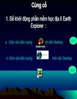 HỌC ĐIA LI THẾ GIỚI VỚI EARTH EXPLORER