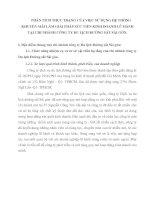 PHÂN TÍCH THỰC TRẠNG CỦA VIỆC SỬ DỤNG HỆ THỐNG KHUYẾN MÃI LÀM GIẢI PHÁP XÚC TIẾN KINH DOANH LỮ HÀNH TẠI CHI NHÁNH CÔNG TY DU LỊCH ĐƯỜNG SẮT SÀI GÒN