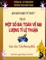 Mot so bai toan ve dai luong ti le thuan(GVDG)