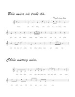 Bài hát dã tràng 5 - Trịnh Công Sơn (lời bài hát có nốt)