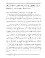 THỰC TRẠNG VIỆC SẮP XẾP LẠI LAO ĐỘNG VÀ GIẢI QUYẾT CHẾ ĐỘ CHÍNH SÁCH ĐỐI VỚI LAO ĐỘNG DÔI DƯ KHI THỰC HIỆN CPH DNNN Ở TỔNG CÔNG TY THÉP VIỆT NAM