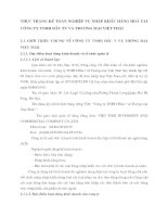 THỰC TRẠNG KẾ TOÁN NGHIỆP VỤ NHẬP KHẨU HÀNG HOÁ TẠI CÔNG TY TNHH ĐẦU TƯ VÀ THƯƠNG MẠI VIỆT THÁI