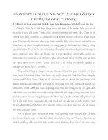 HOÀN THIỆN KẾ TOÁN BÁN HÀNG VÀ XÁC ĐỊNH KẾT QUẢ TIÊU THỤ TẠI CÔNG TY TIÊN DU