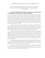 MỘT SỐ GIẢI PHÁP NHẰM NÂNG CAO CHẤT LƯỢNG TÍN DỤNG TẠI CHI NHÁNH NGÂN HÀNG NÔNG NGHIỆP và PHÁT TRIỂN NÔNG THÔN LÁNG HẠ