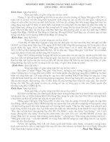 Bài phát biểu trong ngày Nhà giáo Việt Nam