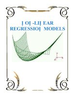 NON-LINEAR REGRESSION MODELS