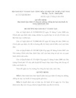 QĐ SÔ323/QĐ -BGDĐT - BAN HÀNH QĐ PHÒNG CHỐNG TÁC HẠI CỦA THUỐC LÁ TRONG NGHÀNH GD