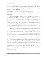 THỰC TRẠNG CÔNG TÁC KIỂM SOÁT RỦI RO TRONG HOẠT ĐỘNG TÍN DỤNG CỦA NGÂN HÀNG THƯƠNG MẠI CỔ PHẦN NGOẠI THƯƠNG CHI NHÁNH HUẾ