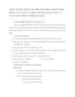 THỰC TRẠNG NÂNG CAO HIỆU QUẢ HOẠT ĐỘNG NHẬP KHẨU CỦA CÔNG TY TNHH THƯƠNG MẠI VÀ ĐẦU TƯ TUẤN LINH TRONG THỜI GIAN QUA