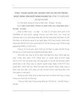 THỰC TRẠNG QUẢN TRỊ  DOANH THU VÀ CHI PHÍ TRONG HOẠT ĐỘNG SẢN XUẤT KINH DOANH TẠI CÔNG TY ĐIỆN MÁY XE ĐẠP XE MÁY