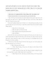 MỘT SỐ VẤN ĐỀ LÝ LUẬN CHUNG VỀ KẾ TOÁN TIÊU THỤ HÀNG HOÁ VÀ XÁC ĐỊNH KẾT QUẢ TIÊU THỤ Ở CÁC DOANH NGHIỆP THƯƠNG MAỊ
