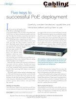 Five keys to successful PoE deployment