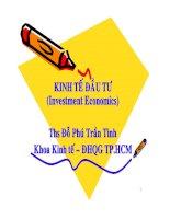 Bài Giảng Kinh tế đầu tư - Chương 1
