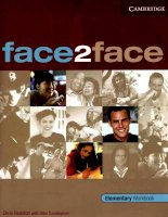 Face2Face elementary workbook 100p