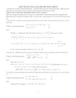 Kỹ năng giải hệ phương trình