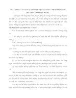 NHẬN THỨC CỦA NGƯỜI DÂN ĐỐI VỚI VIỆC BẢO TỒN VÀ PHÁT TRIỂN NGHỀ DỆT THỔ CẨM TRUYỀN THỐNG