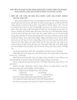 MỘT SỐ GIẢI PHÁP NHẰM NÂNG CAO CHẤT LƯỢNG CÔNG TÁC HOẠCH ĐỊNH CHIẾN LƯỢC SẢN PHẨM Ở CÔNG TY CƠ KHÍ HÀ NỘI
