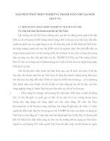 GIẢI PHÁP PHÁT TRIỂN NGHIỆP VỤ THANH TOÁN THẺ TẠI SGDI NHCT VN