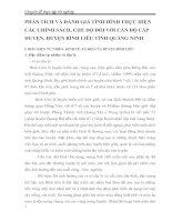 PHÂN TÍCH VÀ ĐÁNH GIÁ TÌNH HÌNH THỰC HIỆN CÁC CHÍNH SÁCH, CHẾ ĐỘ ĐỐI VỚI CÁN BỘ CẤP HUYỆN, HUYỆN BÌNH LIÊU TỈNH QUẢNG NINH