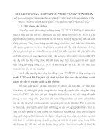 YÊU CẦU CƠ BẢN VÀ GIẢI PHÁP CHỦ YẾU ĐỂ VỪA ĐẨY MẠNH PHÂN CÔNG LAO ĐỘNG TRONG CÔNG NGHIỆP TIỂU THỦ CÔNG NGHIỆP VỪA TĂNG CƯỜNG SỨC MẠNH KHU VỰC PHÒNG THỦ TỈNH HÀ TÂY