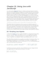 Using Java with JavaScript