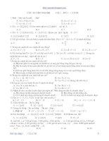 Trắc nghiệm đại số 10 chương 1