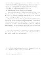 MỘT SỐ GIẢI PHÁP MARKETING NHẰM NÂNG CAO HIỆU QUẢ HOẠT ĐỘNG KINH DOANH TẠI CÔNG TY CỔ PHẦN THƯƠNG MẠI VÀ DỊCH VỤ VẬN TẢI THÁI HÀ