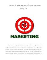 Hỏi đáp về chiến lược và chiến thuật marketing (Phần 13)