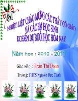 Tiết 22: Nam châm vĩnh cửu- GV: Trần Thị Doan-THCS Nguyễn Đức Cảnh