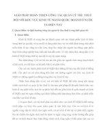 GIẢI PHÁP HOÀN THIỆN CÔNG TÁC QUẢN LÝ THU THUẾ ĐỐI VỚI KHU VỰC KINH TẾ NGOÀI QUỐC DOANH Ở NƯỚC TA HIỆN NAY