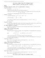 Tổng hợp các đề thi TN Toán 12 (hay)