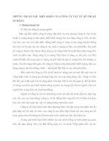 NHỮNG THUẬN LỢI  KHÓ KHĂN CỦA CÔNG TY VẬT TƯ KĨ THUẬT XI MĂNG