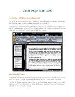 Chinh Phục Word 2007 phần 2