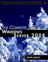 The Complete Guide to Windows Server 2008 P1