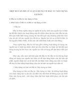 MỘT SỐ VẤN ĐỀ LÝ LUẬN CHUNG VỀ ĐẦU TƯ XÂY DỰNG CƠ BẢN