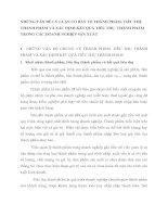 NHỮNG VẤN ĐỀ LÝ LUẬN CƠ BẢN VỀ THÀNH PHẨM, TIÊU THỤ THÀNH PHẨM VÀ XÁC ĐỊNH KẾT QUẢ TIÊU THỤ  THÀNH PHẨM TRONG CÁC DOANH NGHIỆP SẢN XUẤT