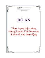 """Đề án """"Thực trạng thị trường chứng khoán Việt Nam sau 4 năm đi vào hoạt động"""""""