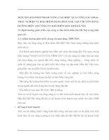 MỘT SỐ GIẢI PHÁP NHẰM NÂNG CAO HIỆU QUẢ CÔNG TÁC KHAI THÁC NGHIỆP VỤ BẢO HIỂM HÀNG HOÁ XNK VẬN CHUYỂN BẰNG ĐƯỜNG BIỂN TẠI CÔNG TY BẢO HIỂM DẦU KHÍ HÀ NỘI