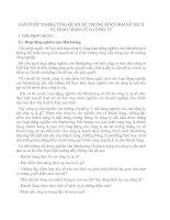GIẢI PHÁP MARKETING QUAN HỆ TRONG KINH DOANH DỊCH VỤ GIAO NHẬN CỦA CÔNG TY