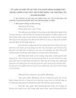 LÝ LUẬN CƠ BẢN VỀ VAI TRÒ CỦA HOẠT ĐỘNG MARKETING TRONG CHIẾN LƯỢC DUY TRÌ VÀ MỞ RỘNG THỊ TRƯỜNG CỦA DOANH NGHIỆP